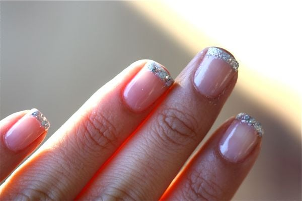 Glitter Nails Three Ways A Cozy Kitchen