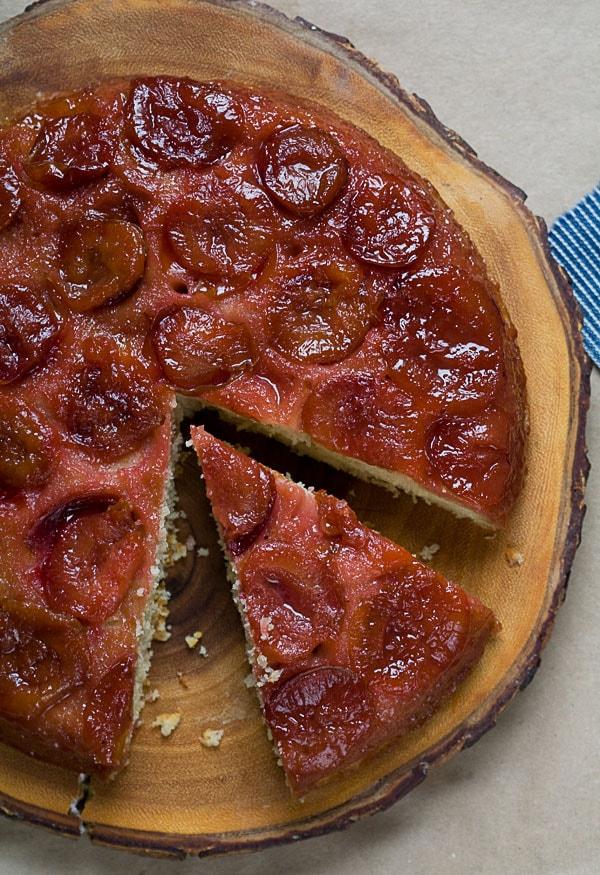 Sour Plus Brown Butter Upside Down Cake // A Cozy Kitchen