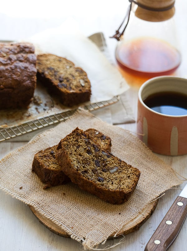 Burnt Banana Rum Bread With Pecans And Dark Chocolate A
