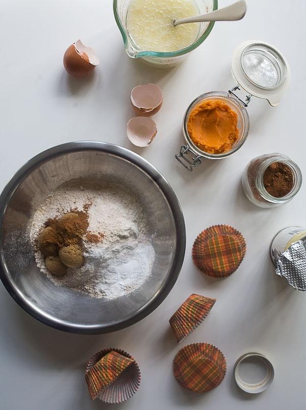 Sweet Potato Muffins with Marshmallow Frosting // www.acozykitchen.com