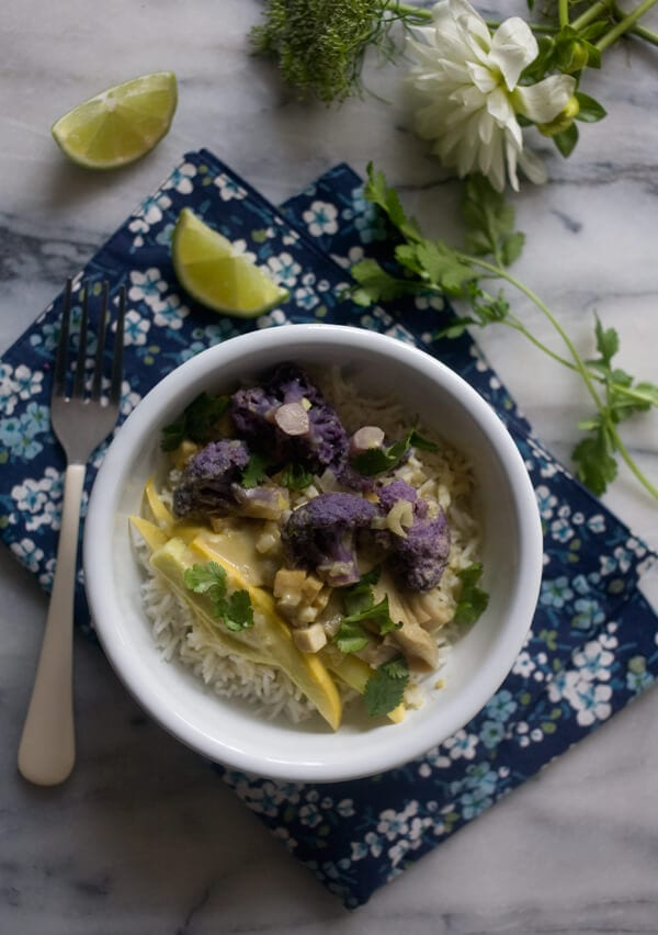 Winter Vegetable Green Curry // www.acozykitchen.com