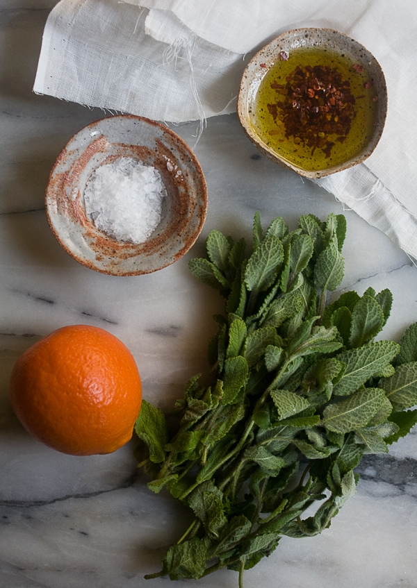 Blistered Blue Lake Beans with Chili, Mint and Orange // www.acozykitchen.com
