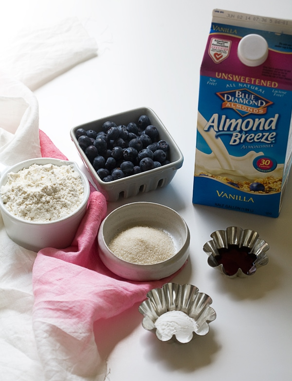 Vegan Almond Blueberry Pancakes | www.acozykitchen.com