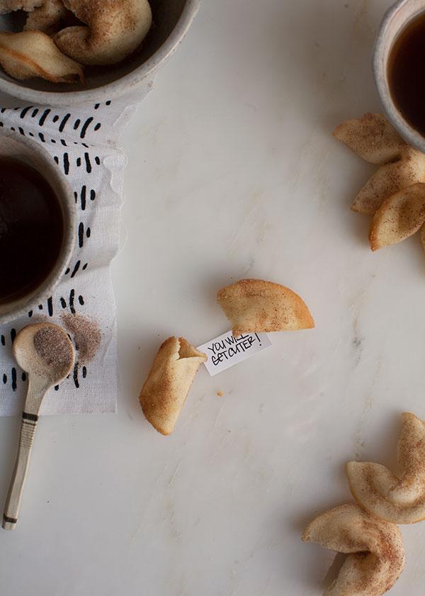 Cinnamon Sugar Fortune Cookies | www.acozykitchen.com