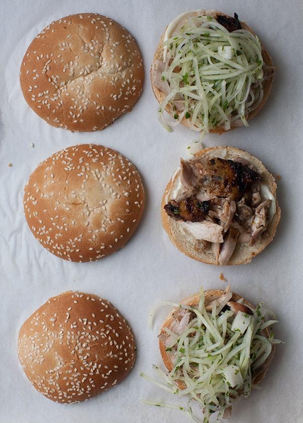 Jerk Chicken Sandwich with Jicama Slaw