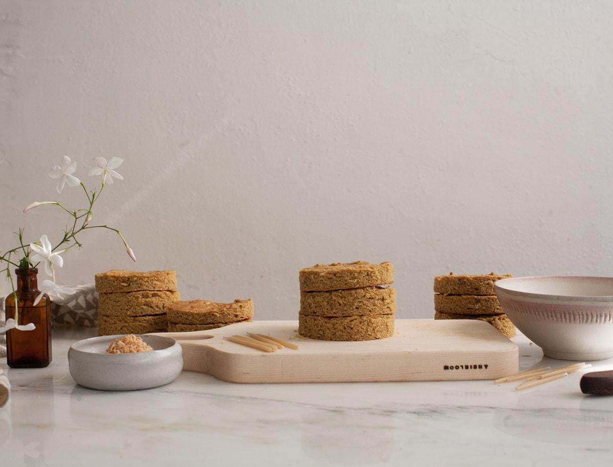 Grain-Free Dog Mini Apple Cakes