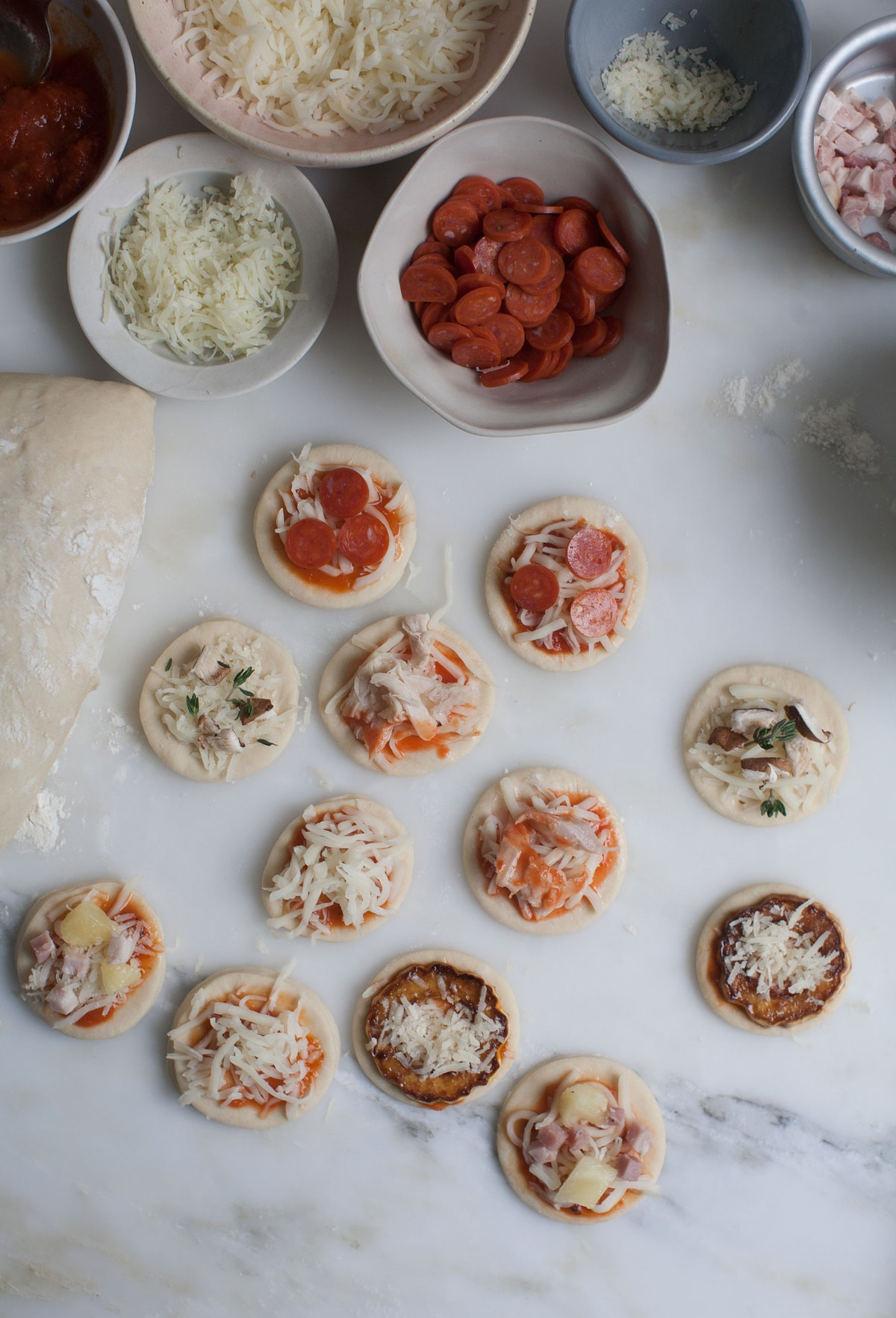 Pizzaception: Lil' Pizzas on Pizza