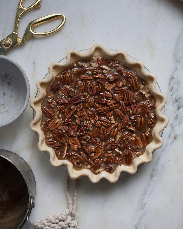 Black-Bottomed Pecan Pie