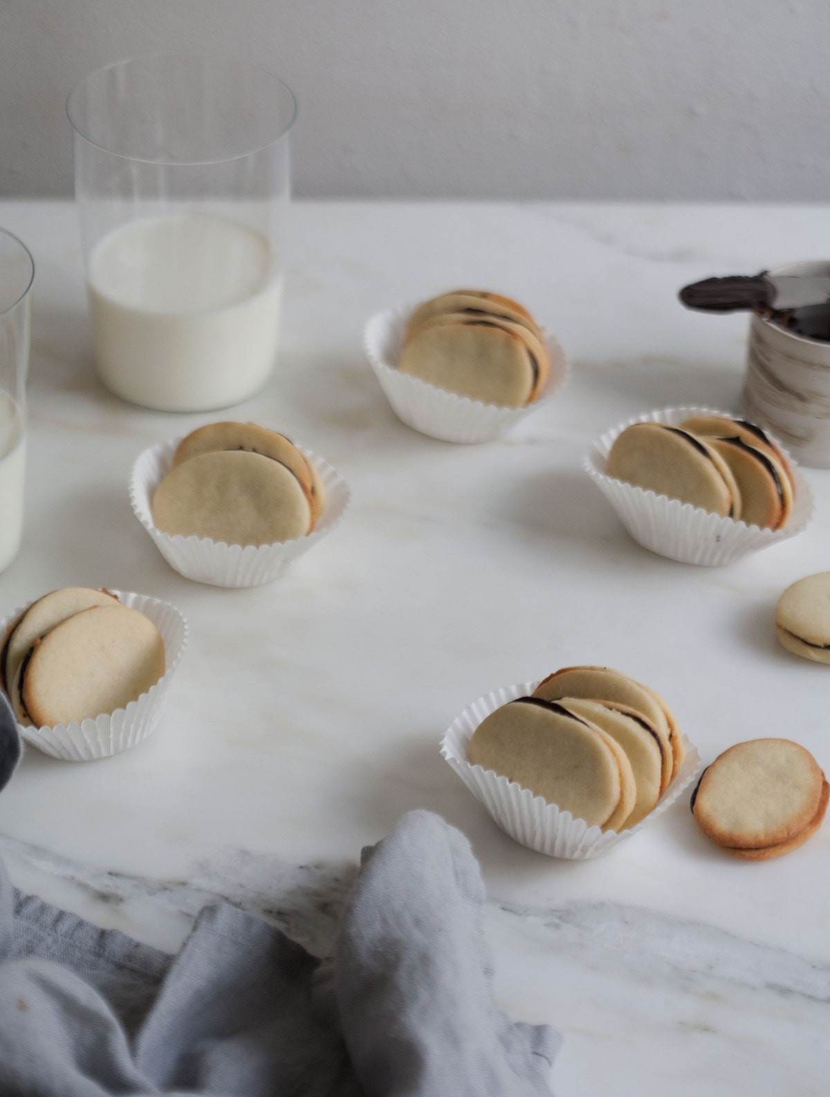 Homemade Mint Milano Cookies