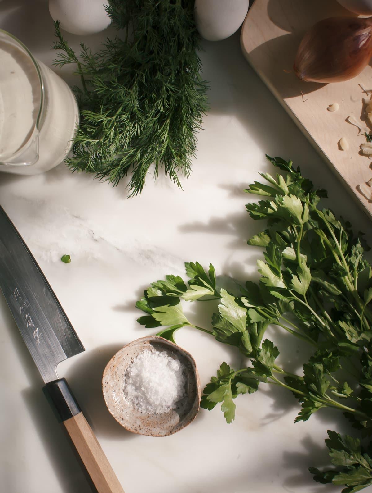 Silky-Ass Quiche with Gruyere & Fresh Herbs