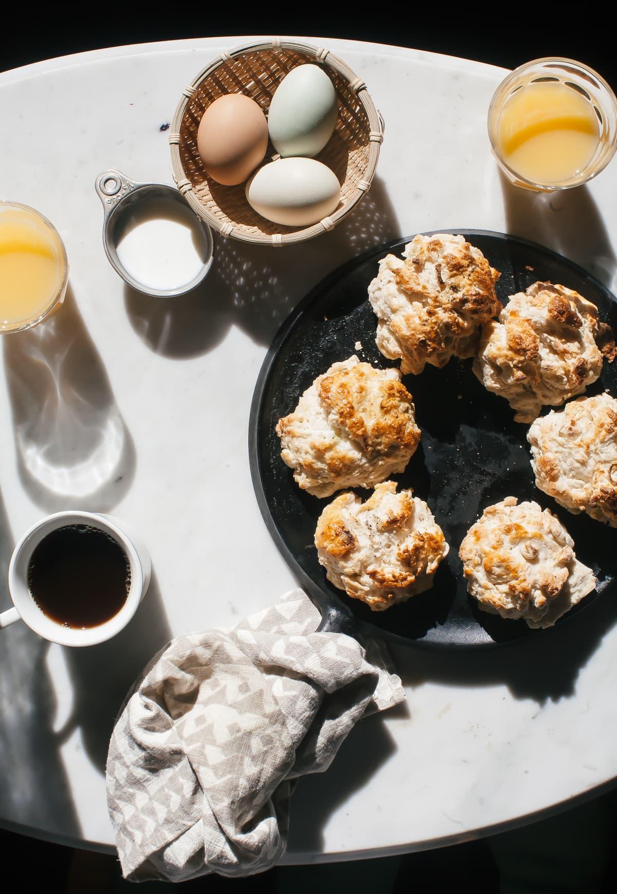 Cabin Baking: Scallion Black Pepper Biscuits
