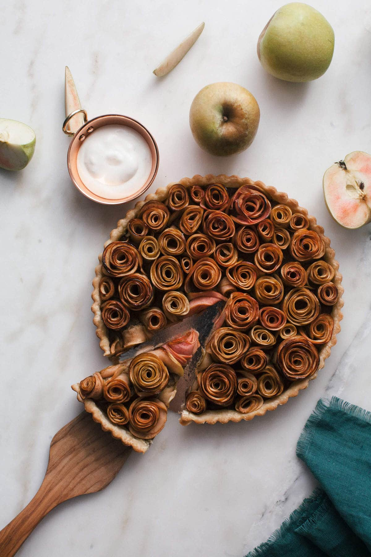 Rose Apple Pistachio Tart