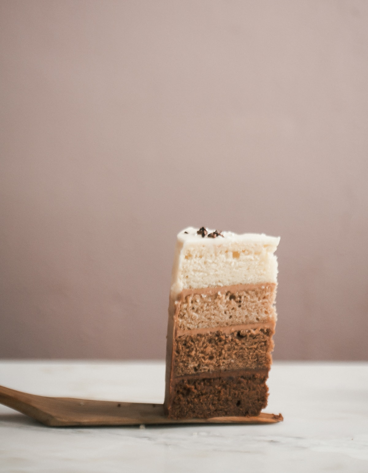 Ombre Chocolate Cake with Mexican Chocolate Frosting